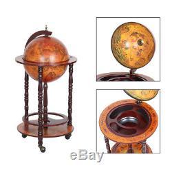 Globe Wine Bar Liquor Rack Cabinet Nautique Old Style Italien Porte-bouteille