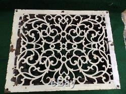 Grand Antique Cast Fer Heat Vent Old Registre Râper Victorienne Vintage 4820-15