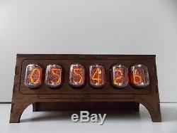Horloge Du Tube Nixie In-12 Bureau De Table Rétro Vieille Horloge Vintage Pour Une Chambre Par Jtnlab