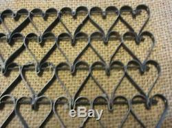 Métal Vintage Liés Tapis Design Coeur Antique Welcome Rare! 8669