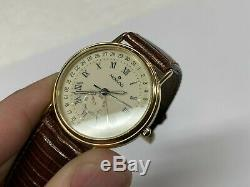 Movado Vintage Old Timer Calendrier 87-06-885 Or Tone Montre