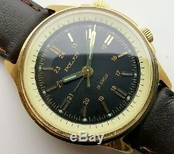 New Vintage Old Stock Poljot Signal D'alarme 2612 Mouvement Urss Made! Criquet
