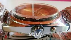 Nouveau Stock Automatique Vieux Slava 2427 Double Calendrier Russe Montre Ultra Rare