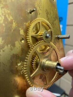 Old Antique Seth Thomas Weight Driven, No. 2 Horloge Murale De Régulateur