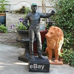 Old Équestre Horse Lovers Lawn Jockey Statue Sculpture Vintage Replica