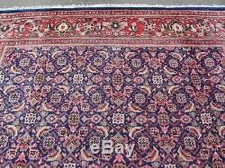 Old Hand Made Tapis Traditionnel Vintage Oriental Laine Bleu Grand Tapis 403x279cm