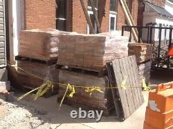 Old Reclaimed Antique Salvage Building Burnt Orange & Red Brick Vintage 1880 Era