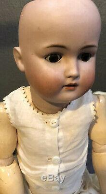 Old Vintage Antique Allemand Bisque Composition Articulé Doll 168 Kestner Halbig