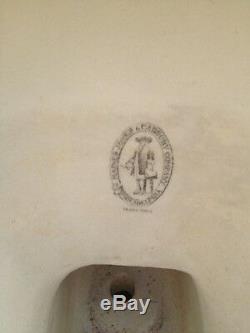 Old Vintage Antique Toilet Haut Jones Réservoir Hanes Et Société Cadbury