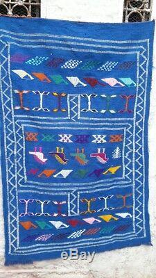 Old Vintage Main Tapis Marocain Tapis Tapis Tapis Berbère Azilal