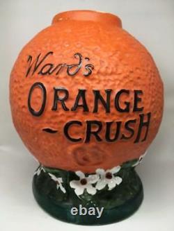 Old Vintage Ward's Orange Crush Syrup Soda Fountain Dispenser Rare Antique Pompe