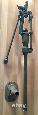 Old Vtg Antique Myers & Bro 1593 Cast Iron 1888 Pompe À Eau À Main Cistern