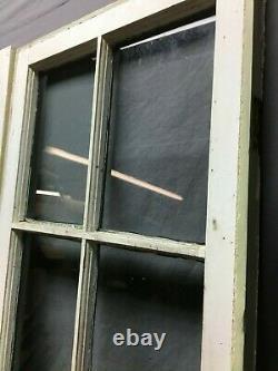 Paire 19 X 54 Antique 8 Lite Casement Window Vtg Cabinet Français Door Old 231-20b