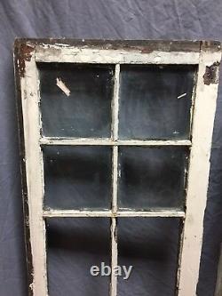 Paire Antique 6 Lite Casement Door Window Cabinet 19x52 Vintage Old 250-18c