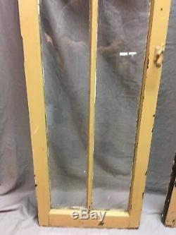 Paire Antique 6 Lite Casement Porte Fenêtres Cabinet Shabby 19x62 Vtg Vieux 156-18c