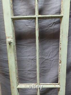 Paire Antique Français Fenêtres À Battants 65x17 Armoires Pantry Portes Vtg Vieux 684-18p
