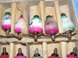 Pifco De Noël Figural Chinese Lanterne Lumière Ampoule Vintage Verre Vieux Antique 18