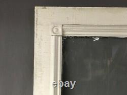 Porte D'entrée En Bois Massif Victorien Antique Demi-verre Bullseyes Old Vtg 414-19e