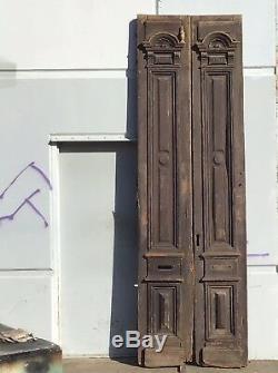 Portes Françaises Antique Vintage Grand Étroit Acajou