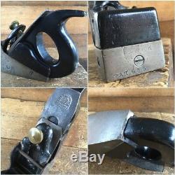 Rare Antique Preston Brevet Infill Lissage Plane Outil Vintage Old Hand # 216