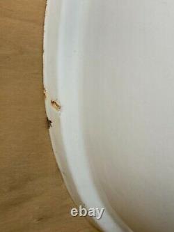 Rare Blanc Antique Pillbox Réservoir De Toilette Bowl Couvercle Vieux Vtg Bain 664-20e