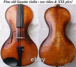 Rare Old Gusetto Violin Video Antique Allemand Guseto 223