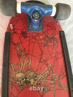 Rare Vintage Skateboard 80s Old School Kryptonics Tracker Sims Pig Spider Skelet