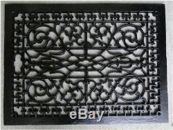 Rectangulaire Vent Replica-forme Big Huge Fondu Massif De Fer Vintage Old Style