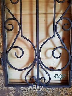 Rustique Vintage Antique Vieux Monde Arquéesles Scrolling Bois Panneau Mural De Fenêtres En Métal