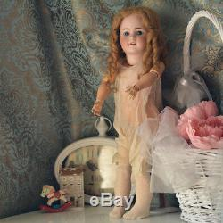 Simon Et Halbig Antique Doll Procelaine Mold 550 Sleepy Eyes Old Dress