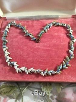 Tasmanian Antique Vintage Autochtone Maireener Sea Shell Collier Old Bijoux