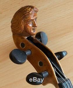 Très Vieux Violon Étiqueté Vintage Castelli Violon Geige