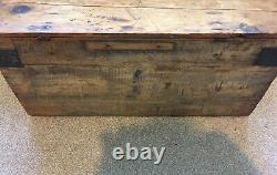 Tronc Antique Vintage Pin Coffre-fort Blanket Coffee Table Old Toy Box De Stockage