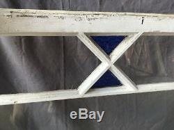 Verre Antique Stained Couleur Transom Fenêtre À Guillotine 23x40 Vieux Shabby Vtg 543-18e