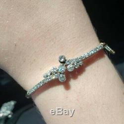 Victorienne Antique Or Jaune 14k 2 Carats Ancienne Mine De Diamants Taille Bracelet