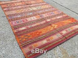 Vieux Pays Laine Vintage Ancien Turc Kilim Tapis Maison Kelim 206x142cm