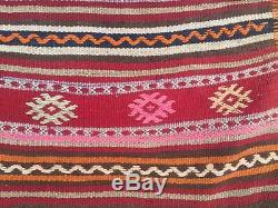 Vieux Pays Laine Vintage Ancien Turc Kilim Tapis Maison Kelim 209x125cm