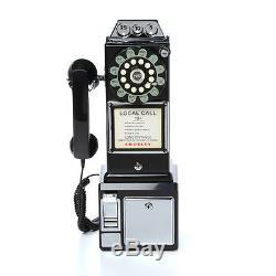 Vieux Téléphones Téléphones Antique Vintage Téléphone Public Nouveauté 1950 Rotary Noir Accueil