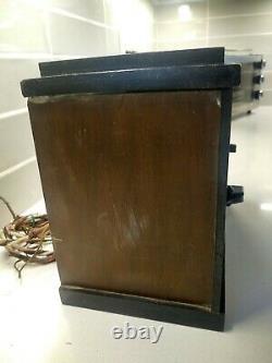 Vintage 1936 Art Déco Deluxe Chrome Nouveau Grille Antique Old Wood Tube Radio