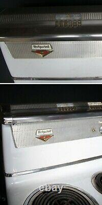 Vintage Ancien Art Déco Électrique Hotpoint Gamme Poêle Four En Porcelaine Acier