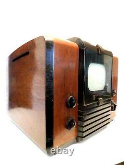 Vintage Années 1940 John Vassos Antique Rca Victor Pré-guerre Canal 1 Old Television