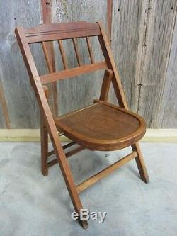 Vintage Childs Chaise Pliante En Bois Antique Table Stand Old Tabouret 7039