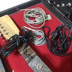 Vintage Guitar Silvertone 1457 Withamp En Cas S'il Vous Plaît Lire Projet Tel Quel Pièces Vieux