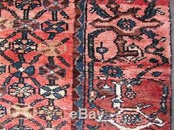 Vintage Old Traditionnel Fait Main Oriental Rouge Bleu Laine Grand Tapis 183x131cm