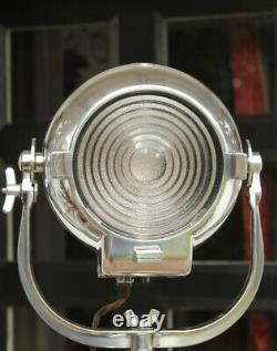 Vintage Strand 123 23 Théâtre Lumière Film Lampe Industrielle Old Stage Trépied En Acier