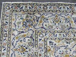 Vintage Worn Vieux Traditionnel Fait Main Tapis D'orient Tapis Blanc Laine 330x242cm