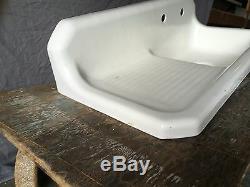Vtg 42 Fonte Blanc Porcelaine Cuisine Ferme Sink Vieux Plomberie 645-17e