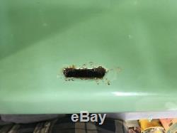 Vtg Jade Vert Porcelaine Fonte Plateau Retour Sink Old Bath Salavge 754-17e