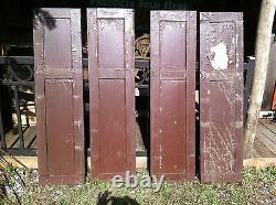 Vtg Paire 1800 Old Fenêtre En Bois Volets Architectural Salvage Écran 55