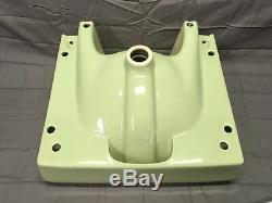 Vtg Retro Mint Jade Céramique Bain Évier Chrome Jambes Vieux Fixture 791-17e Plomberie